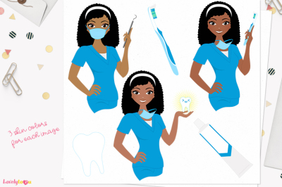 Dental Hygienist, woman character, (L400 Nelly)