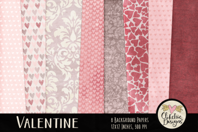 Valentine Background Texture Paper Pack