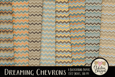 Dreaming Shabby Chevron Background Textures
