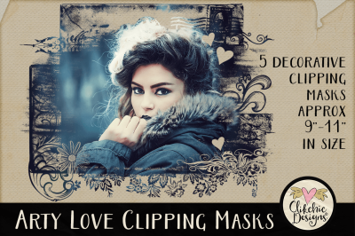 Arty Love Clipping Masks & Photoshop Tutorial