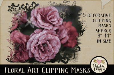 Floral Art Photoshop Clipping Masks & Tutorial