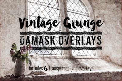 Grunge Damask Overlay Textures