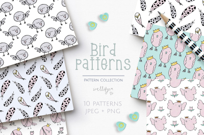 Bird pattern collection