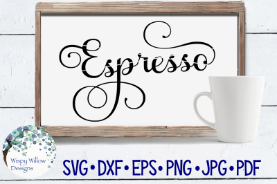 Espresso, Coffee, Label, SVG/DXF/EPS/PNG/JPG/PDF