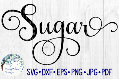 Sugar Elegant Scroll Label SVG/DXF/EPS/PNG/JPG/PDF