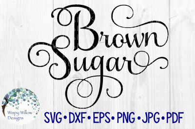 Brown Sugar Elegant Scroll Label SVG/DXF/EPS/PNG/JPG/PDF