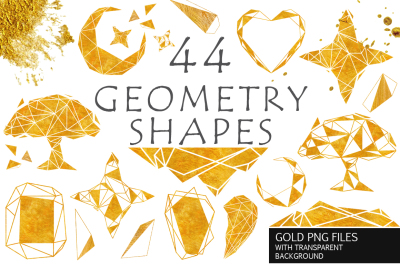 Gold Geometry shapes Vol. 2