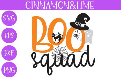 Boo Squad Kids Halloween SVG