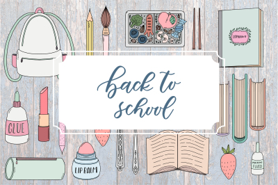 BACK TO SCHOOL. Cute doodle pack.