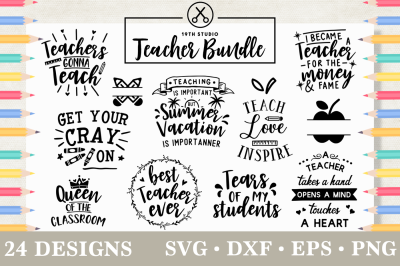Teacher SVG Bundle | M5