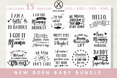 New born baby SVG Bundle | M20