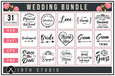 Wedding SVG Bundle | M27