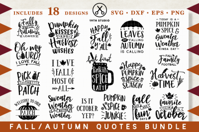 Fall | Autumn SVG Bundle | M29