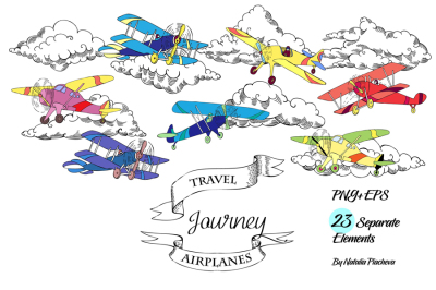 Airplanes Digital Clip Art