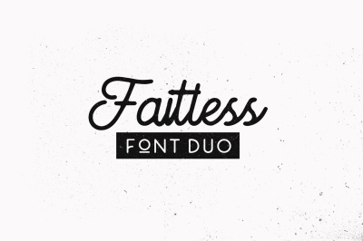 Faithless font duo