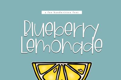 Blueberry Lemonade - A Handwritten Font