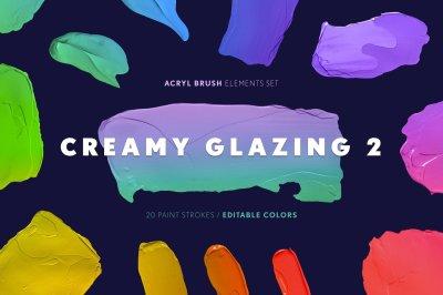 Creamy Glazing 2 - Paint Strokes