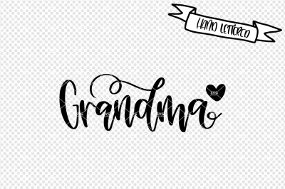 Grandma svg cut file, nana svg