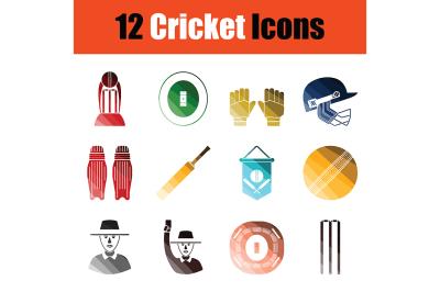 Cricket icon set