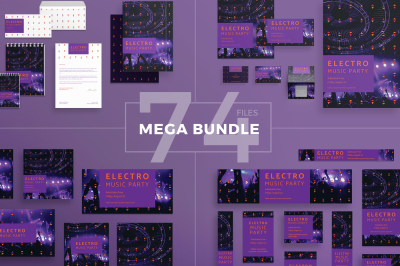 Design templates bundle | flyer, banner, branding | Music Party
