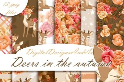 Deer in the autumn paper