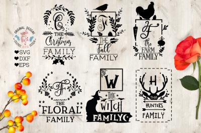 Family name Frames SVG, DXF, EPS