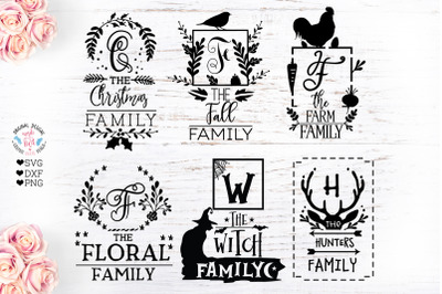 Family name Frames SVG, DXF, PNG