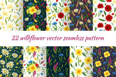 Wildflowers decoration set