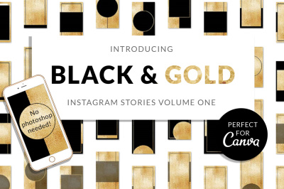 Black & Gold Instagram Stories (v1)