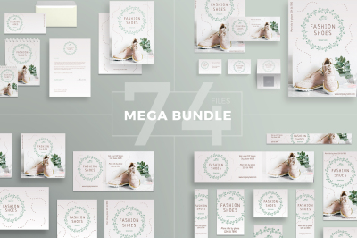 Design templates bundle | flyer, banner, branding | Fashion Shoes