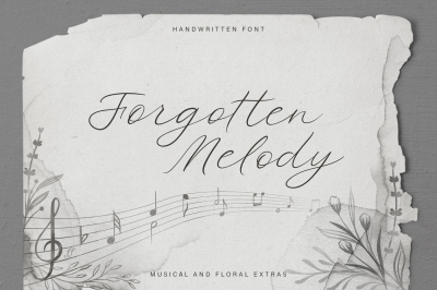 Forgotten Melody. Font with Extras