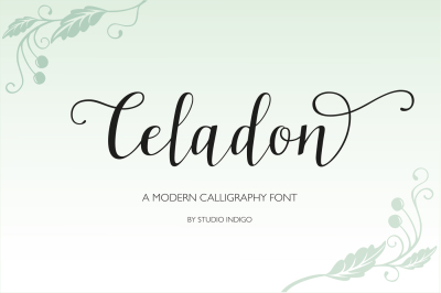 Celadon Modern Calligraphy Font
