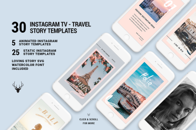 IGTV Travel - ANIMATED Instagram Stories - Extra Long Templates