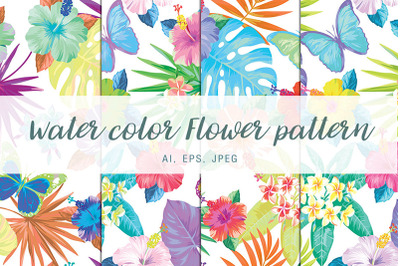Water color flower pattern