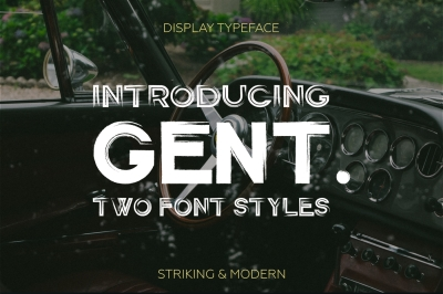 Gent. Display brushed typeface.