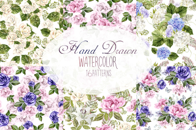 16 Watercolor pattern