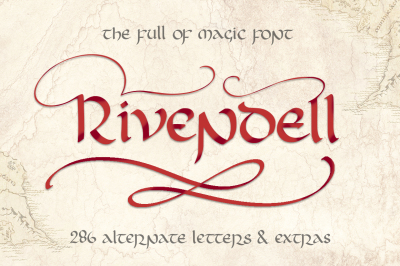 Rivendell. Full of magic font.