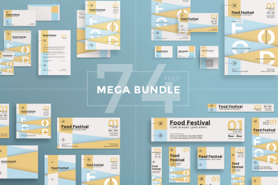 Design templates bundle | flyer, banner, branding | Food Festival