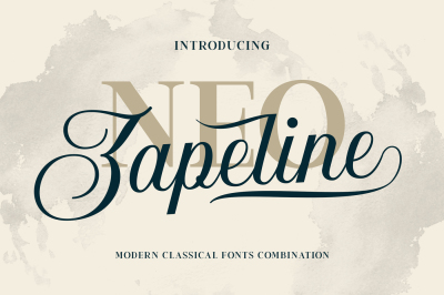 Neo Zapeline | 3 Font Combination