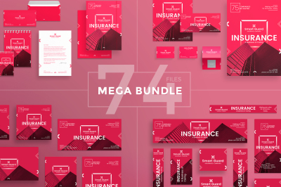 Design templates bundle | flyer, banner, branding | Insurance Company