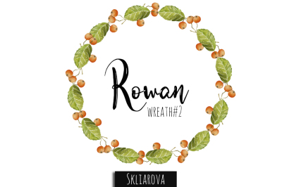 Rowan watercolor wreath #2