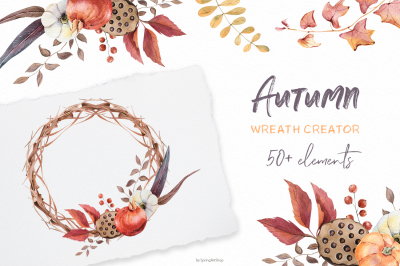 Autumn wreath creator