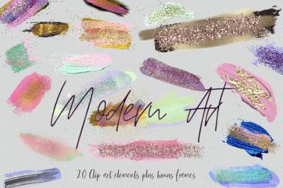 Modern Art - Brush Stroke Clipart