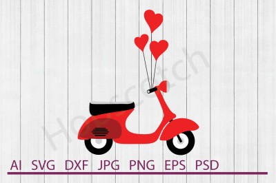 Scooter SVG, Scooter DXF, Cuttable File