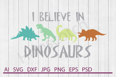 Dinosaurs SVG, Dinosaurs DXF, Cuttable File