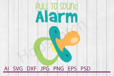 Pacifier SVG, Pacifier DXF, Cuttable File
