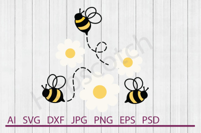 Bee SVG, Bee DXF, Cuttable File