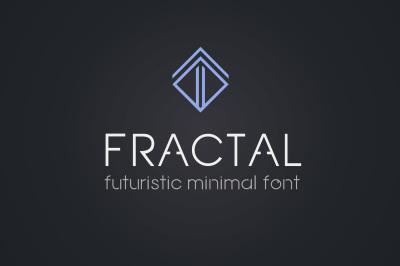 Fractal - futuristic minimal font