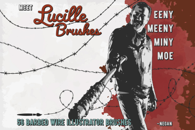 Lucille - Barbed Wire AI Brushes