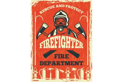 Poster for firefighter departmen